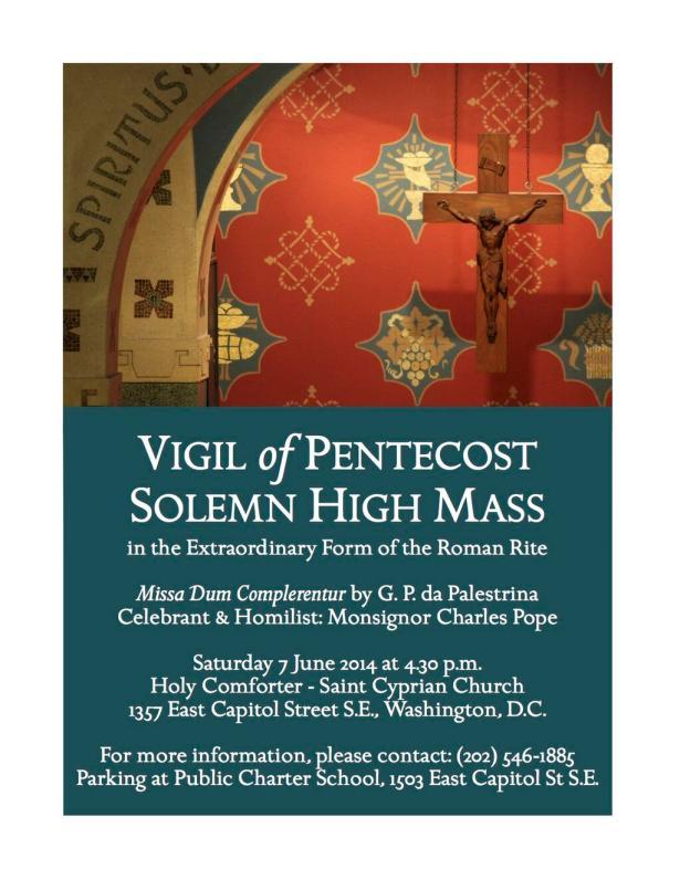Pentecost Vigil Mass at Holy Comforter-St. Cyprian 6/7/14